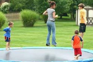 bouncing on trampolines