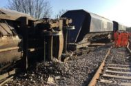 Freight Train in Flames Near Pittsburgh