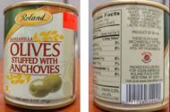 FDA Warns Consumers About Potentially Contaminated Olives