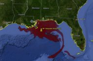 Deepwater Horizon Oil Spill Now Size of Delaware