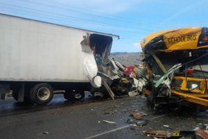 School Bus Hits Truck