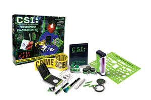 Crayons and Toy Crime Lab Kits