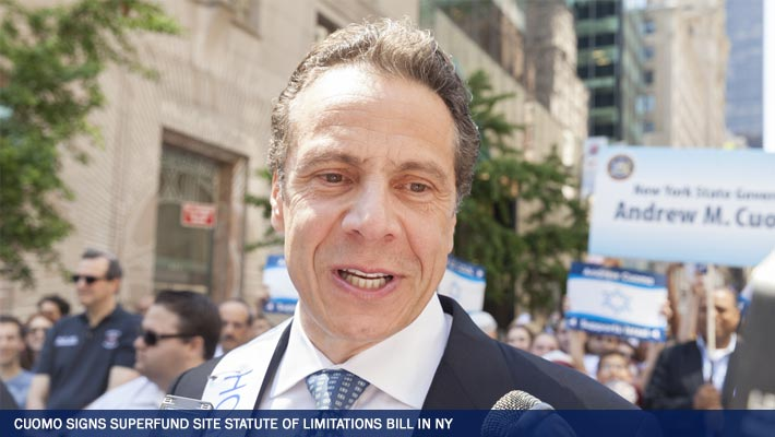 Governor Cuomo Signs Superfund Site Statute of Limitations Bill in New York