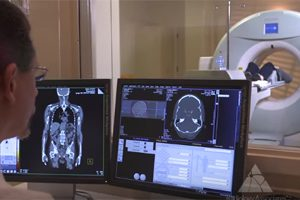 Patient undergoing CT Scan Radiation