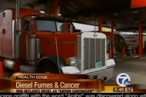 Diesel Fumes Linked to Lung Cancer