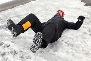 Information onpremises liability slip and fall on hard snow