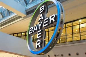 A sign for Bayer, the Essure manufacturer