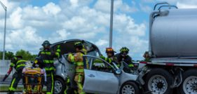 Traffic Stopped Because of Accident on Midpoint Bridge