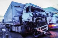 Truck Accident Injures Mother and 2 Children