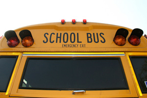 Bus Hits Student
