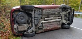 Woman Seriously Injured in Rollover Collision