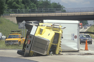 Truck Accident on the Cross Bronx Expressway in Bronx, New York