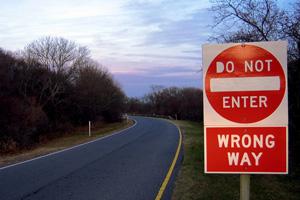 Wrong Way Collision