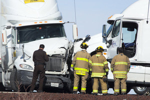 Multiple Truckers Cited for Disobeying Driving Ban Leading Accident