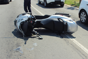 Motor Scooter Accident on I-75 Hillsborough County, Florida