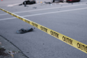 Biker injured after being startled and falling off motorcycle