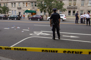 Car Strikes Pedestrian and another Vehicle in Flat Iron District in NY