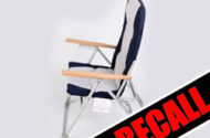 Folding Deck Chairs Recalled For Collapse Hazard