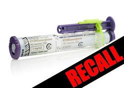Hospira Recalls Hydromorphone Injections that may Contain more than Intended Volume