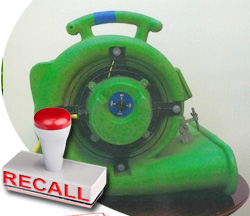 Notus Air Movers Recalled After Fire Reports