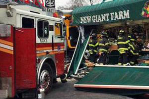 Accident Involving School Bus and Truck in Queens