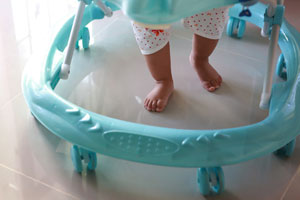 Baby walkers sold through amazon are safety hazards