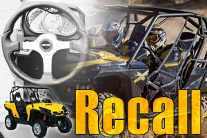 can am recall steering problems