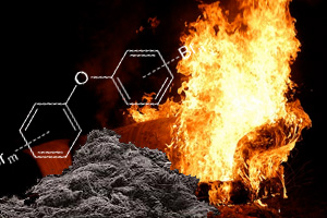 flame chemicals found in house dust sofas