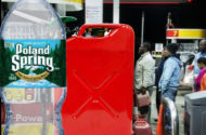 Poland Spring bottled water may be contaminated with gasoline; Sandy and gas shortage likely to blame