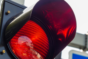 Number of accidents caused by running red lights highest in a decade
