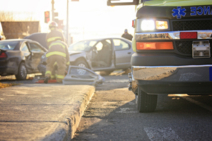 Serious accident with injuries in breezy point, queens, new york