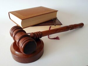 A gavel and law texts used in a Nexium lawsuit