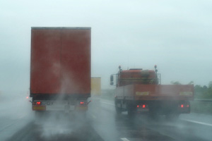 Adverse weather affects truck safety