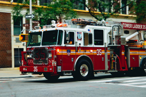 FDNY Fire Truck Engine Collides with a Car and Injures Six People