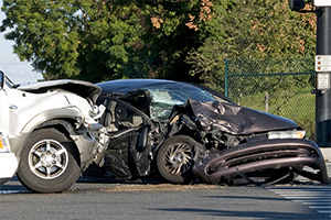 Two-vehicle accident with injuries in canarsie