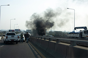 Fatal traffic accident on the gowanus expressway