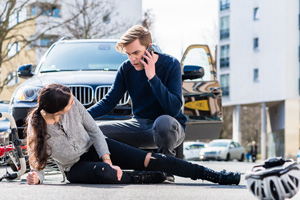 Bicycle-automobile accident liability